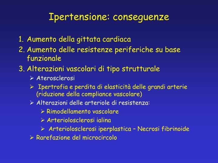 Ipertensione: conseguenze