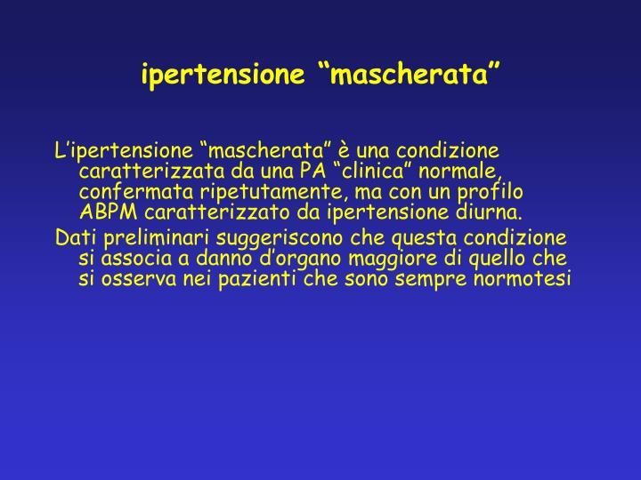 "ipertensione ""mascherata"""