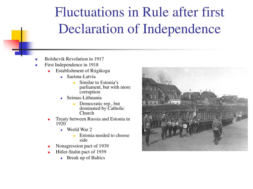 Fluctuations in Rule after first Declaration of Independence