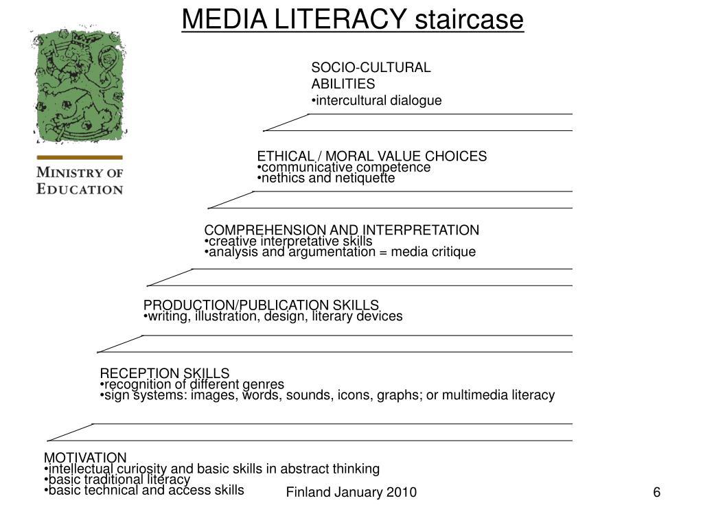 MEDIA LITERACY staircase