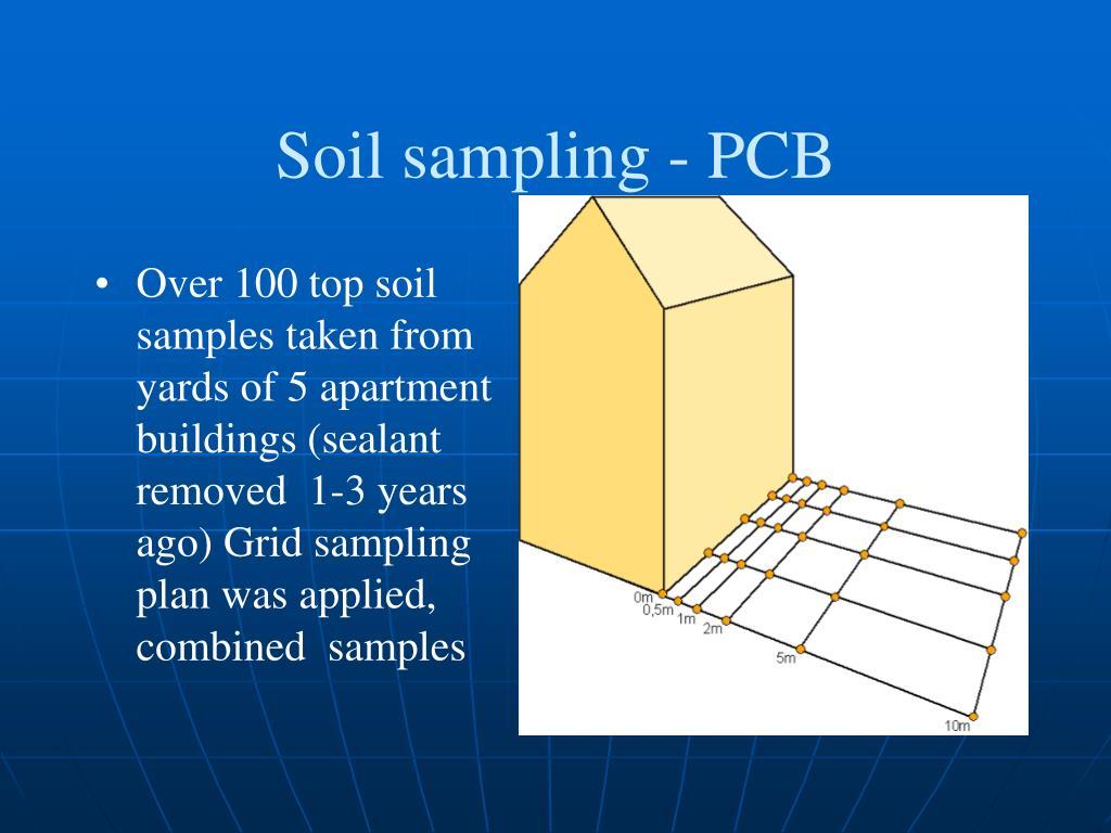 Soil sampling - PCB