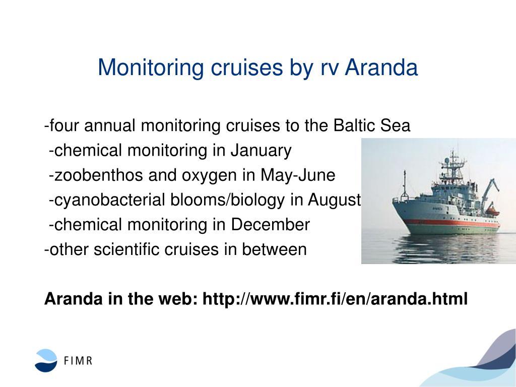 Monitoring cruises by rv Aranda