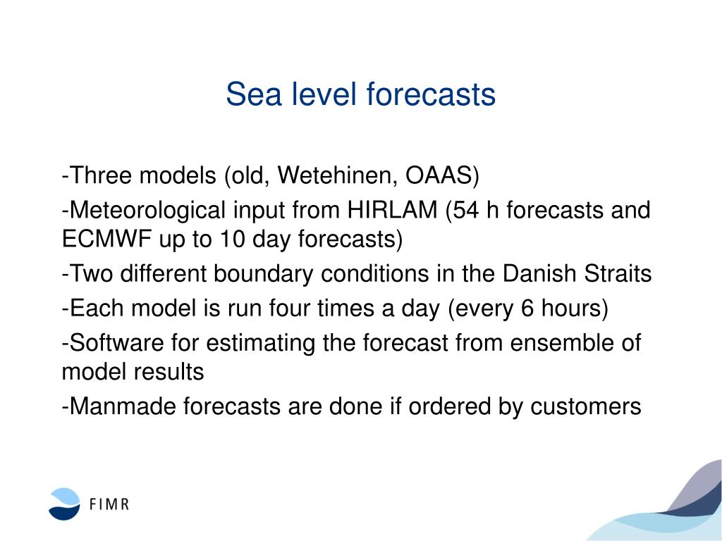 Sea level forecasts
