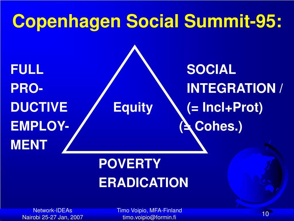 Copenhagen Social Summit-95:
