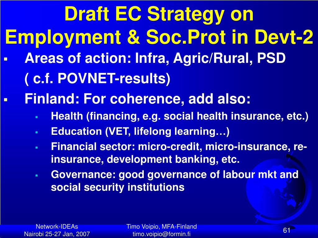 Draft EC Strategy on Employment & Soc.Prot in Devt-2