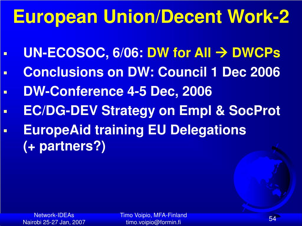 European Union/Decent Work-2