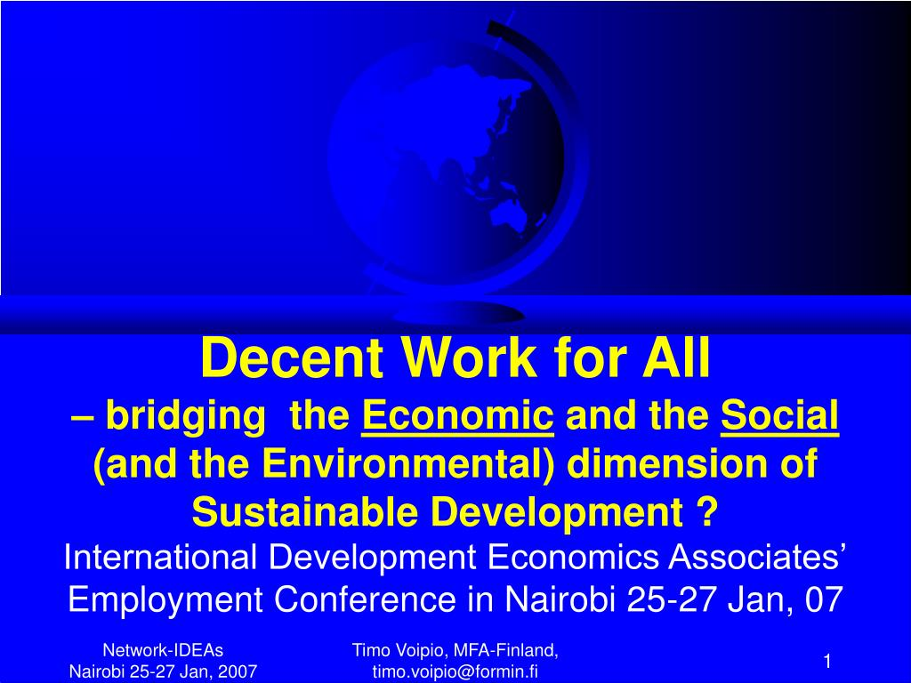 Decent Work for All