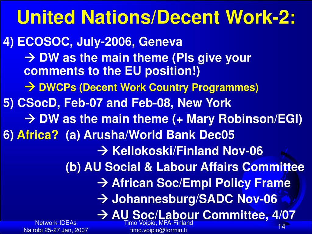United Nations/Decent Work-2: