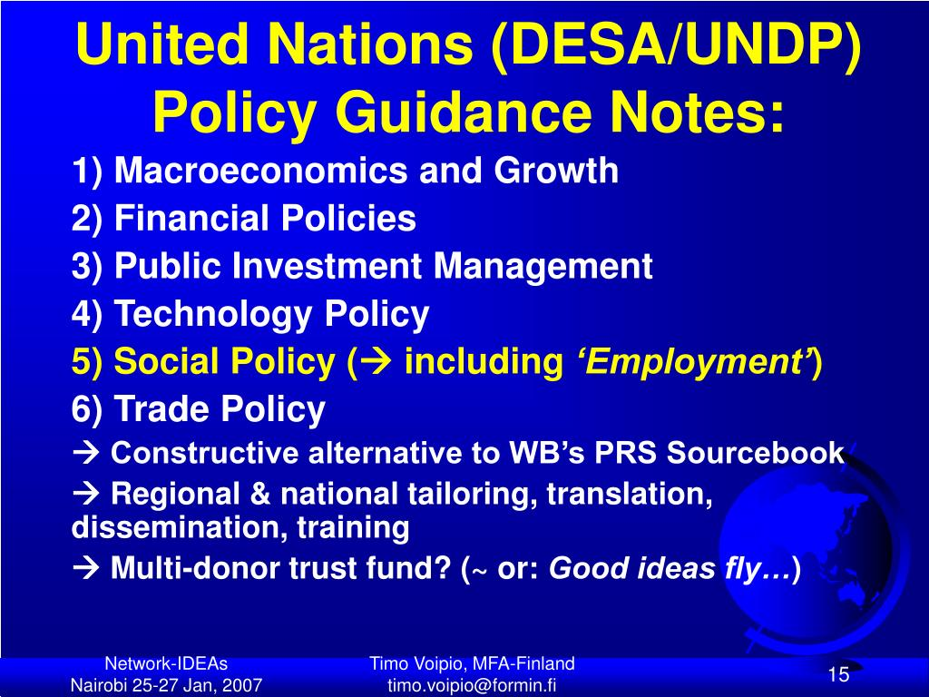 United Nations (DESA/UNDP)