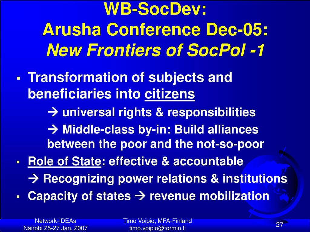 WB-SocDev: