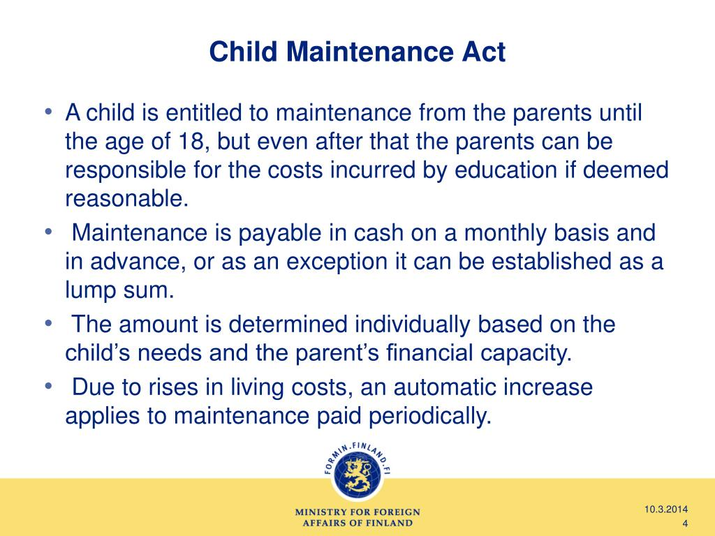 Child Maintenance Act