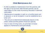 child maintenance act
