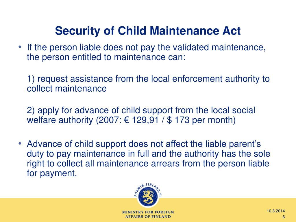 Security of Child Maintenance Act