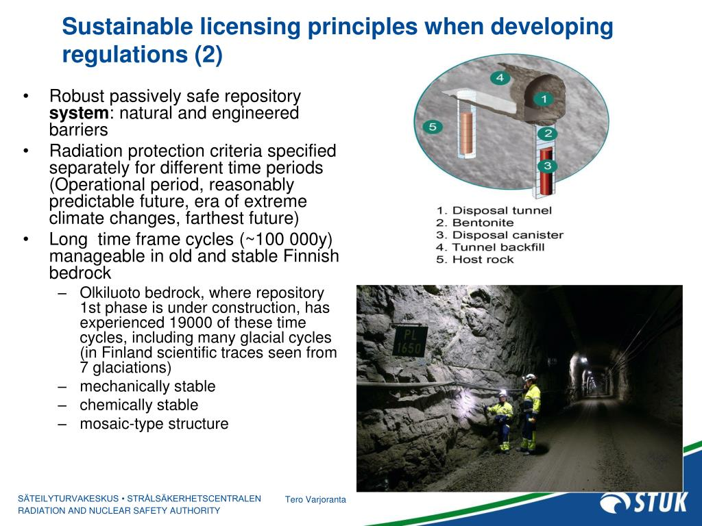 Sustainable licensing principles when developing regulations (2)