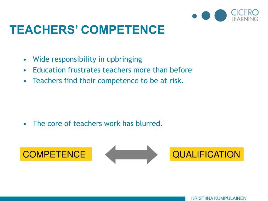TEACHERS' COMPETENCE