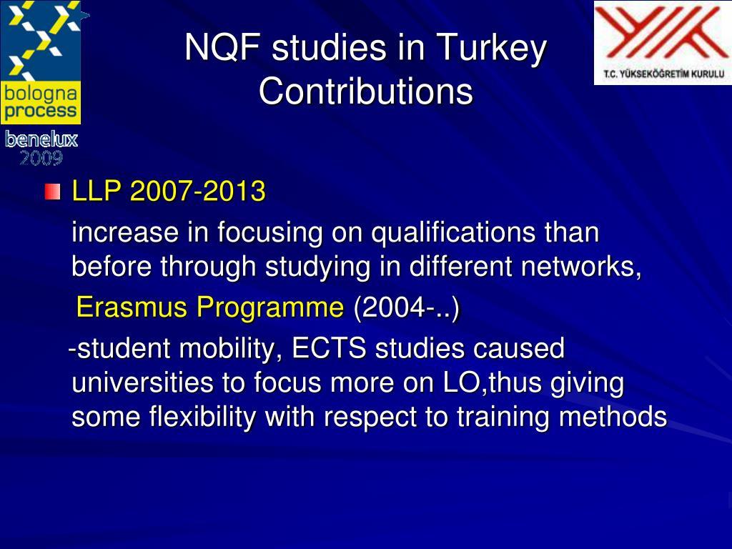 NQF studies in Turkey