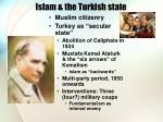 islam the turkish state