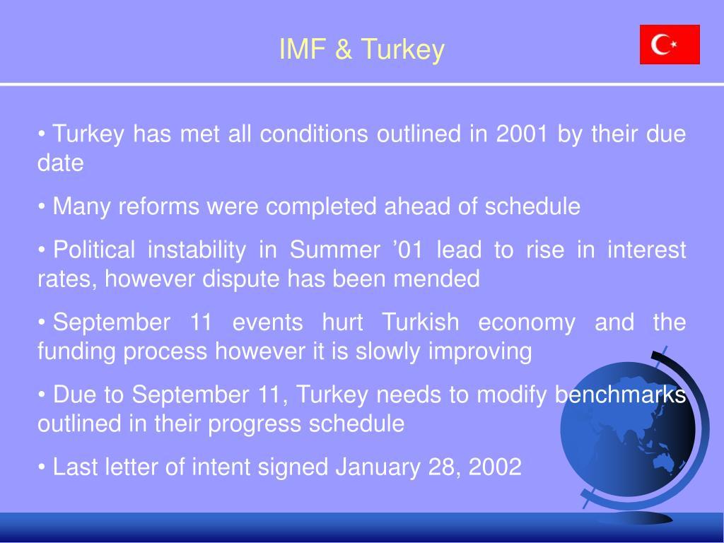 IMF & Turkey