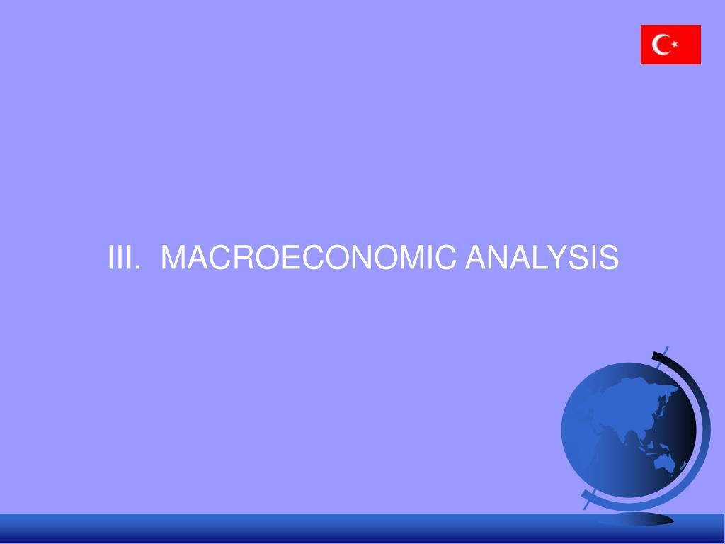 III.  MACROECONOMIC ANALYSIS