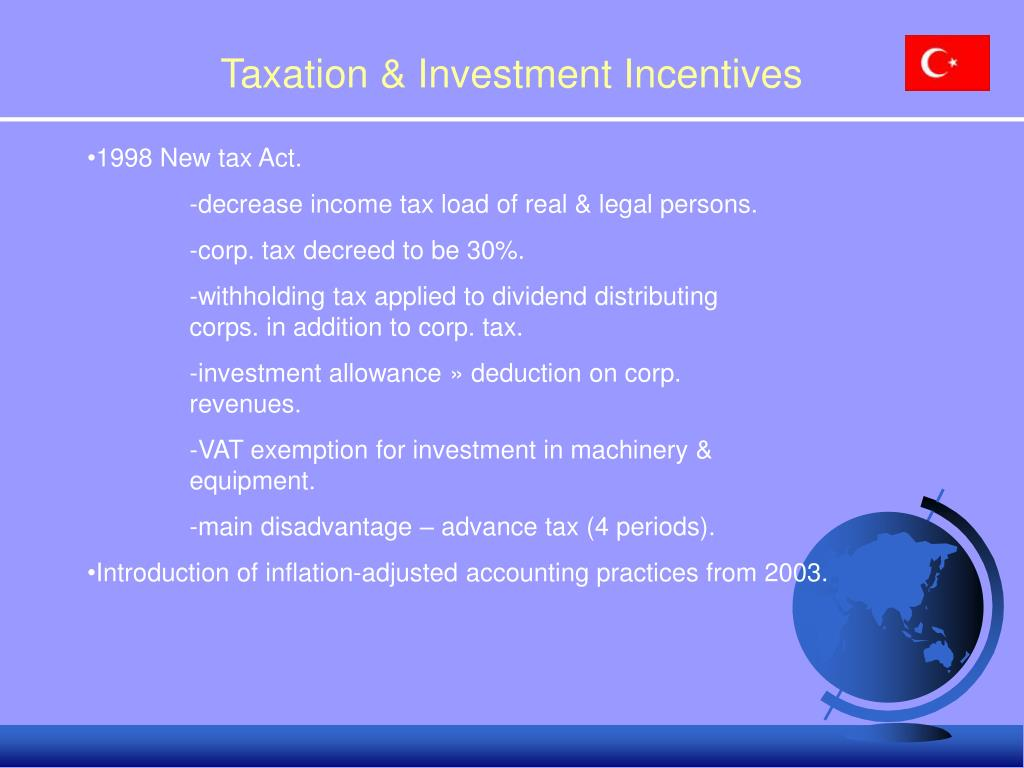 Taxation & Investment Incentives