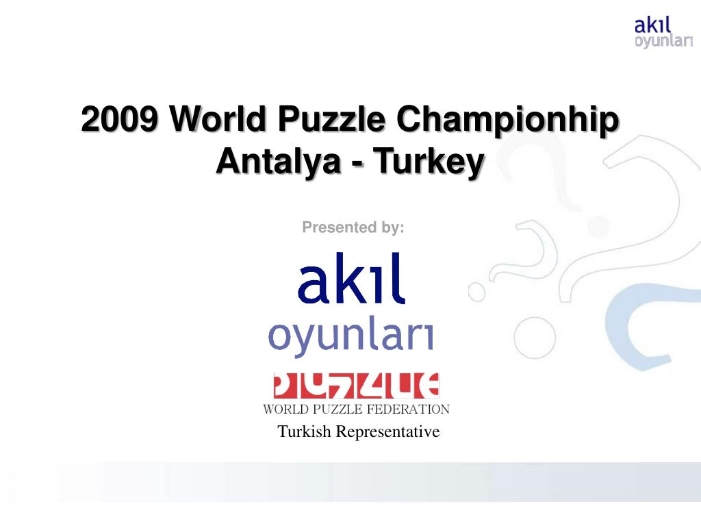 2009 World Puzzle Championhip