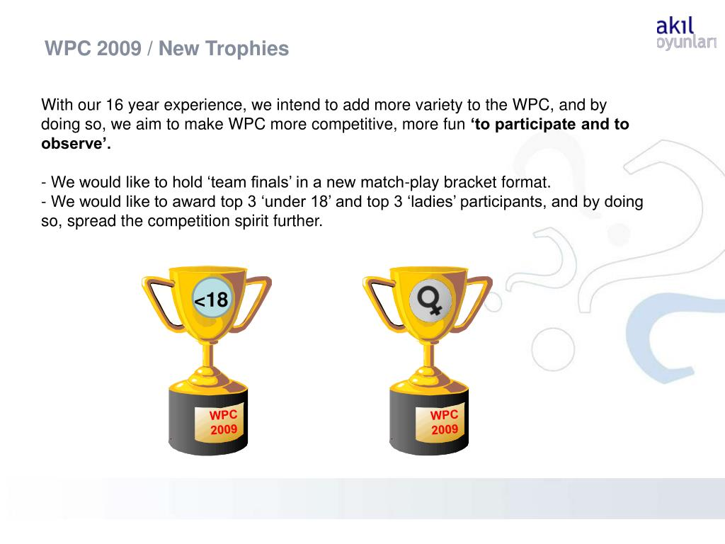 WPC 2009 / New Trophies