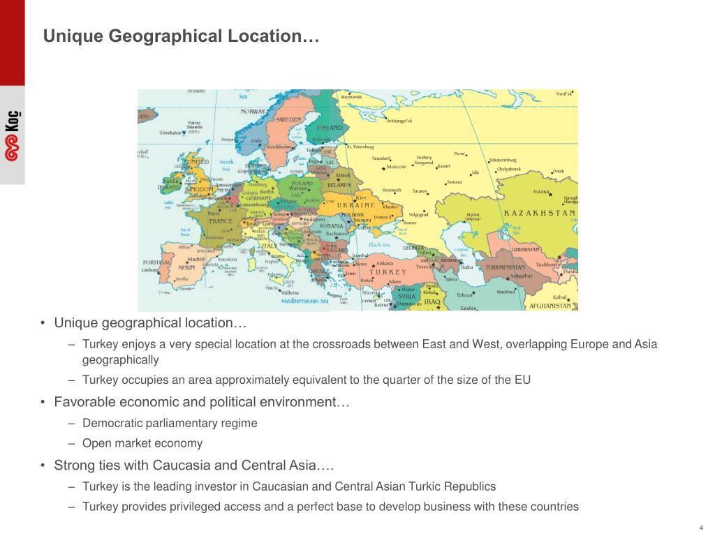 Unique Geographical Location…