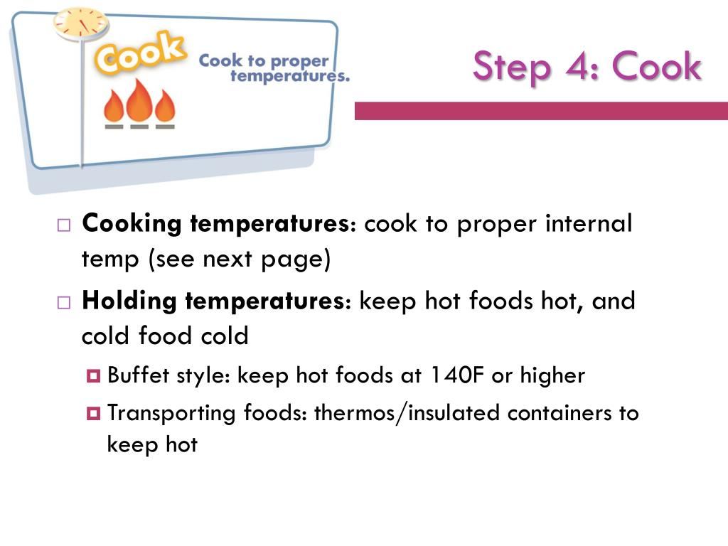 Step 4: Cook