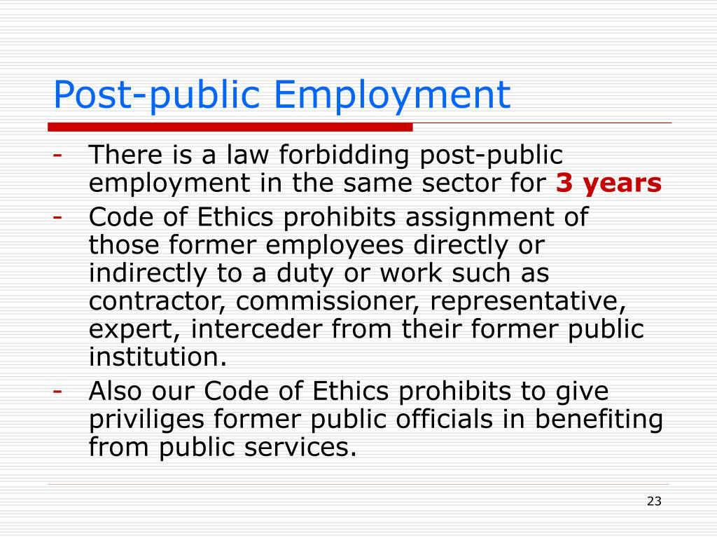 Post-public Employment