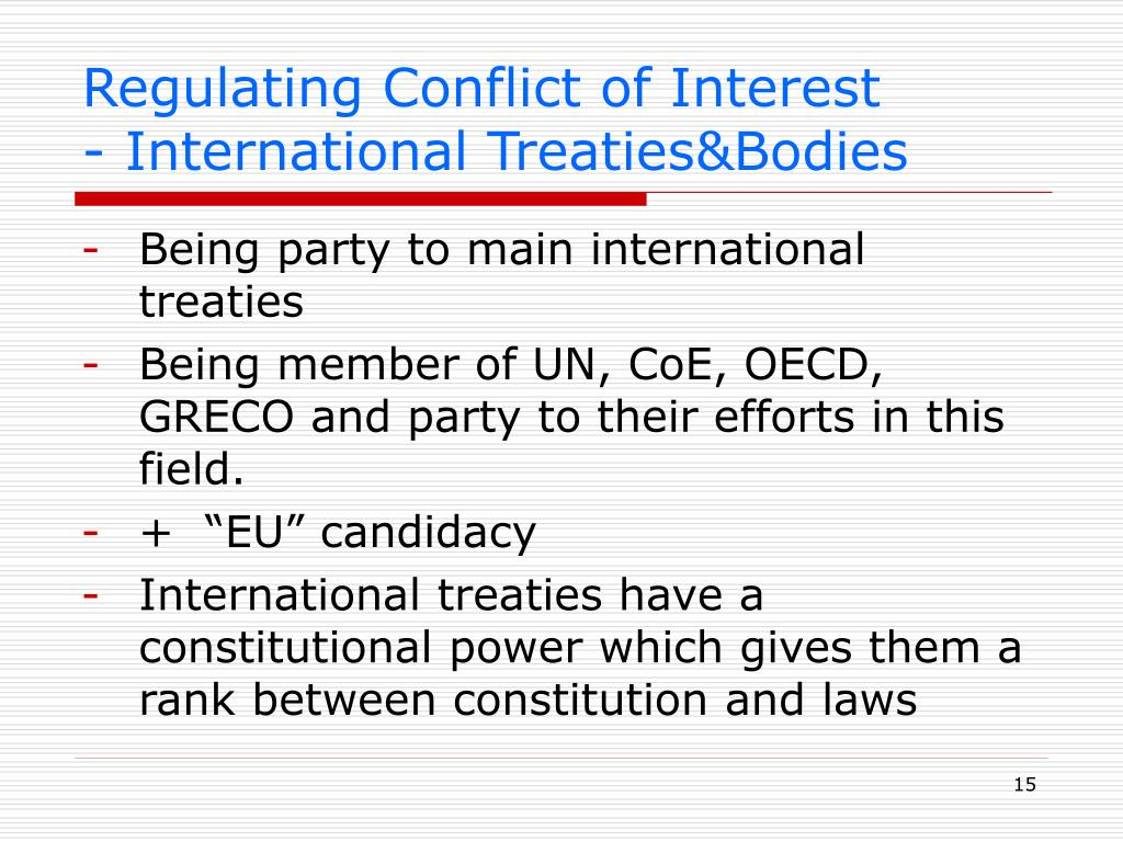Regulating Conflict of Interest