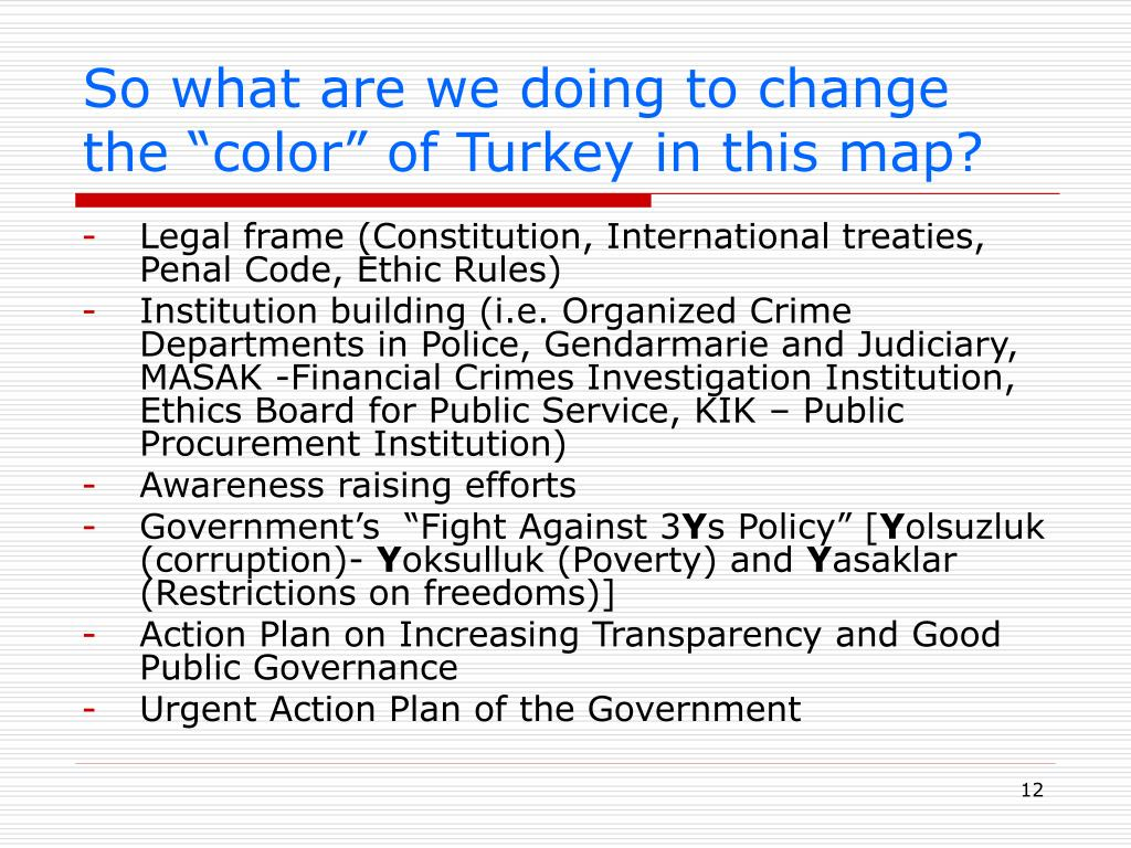 "So what are we doing to change the ""color"" of Turkey in this map?"