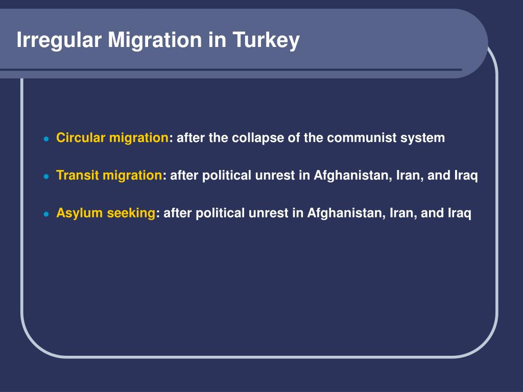 Irregular Migration in Turkey