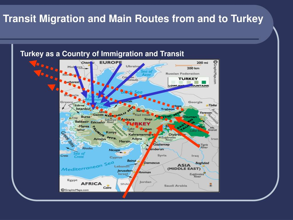 Transit Migration and Main Routes from and to Turkey