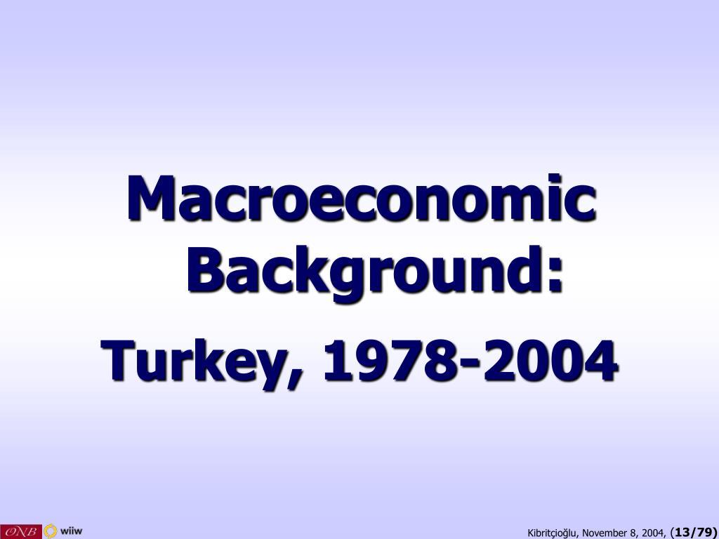 Macroeconomic Background: