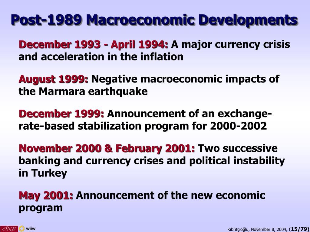 Post-1989 Macroeconomic Developments