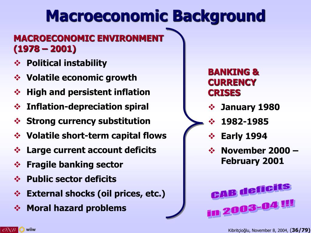 Macroeconomic Background