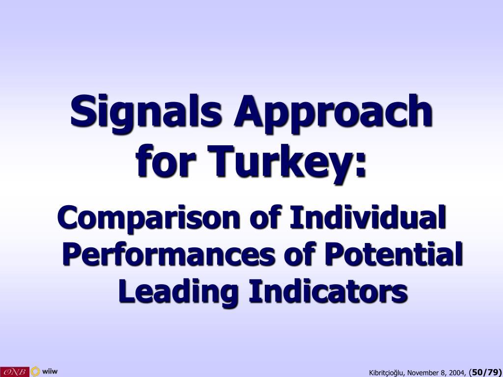 Signals Approach
