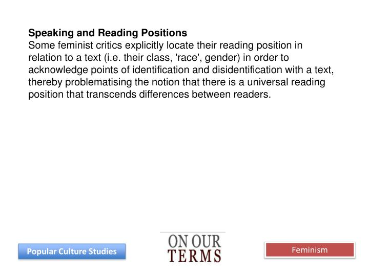 Speaking and Reading Positions