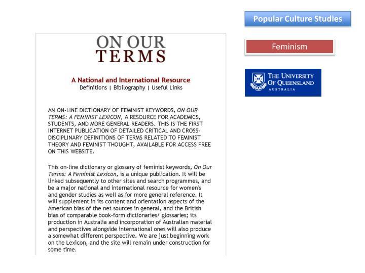 Popular Culture Studies