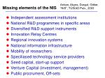 missing elements of the nis