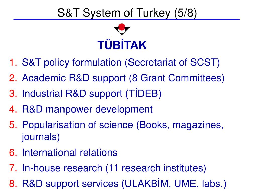 S&T System of Turkey (5/8)