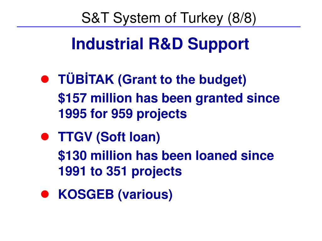 S&T System of Turkey (8/8)