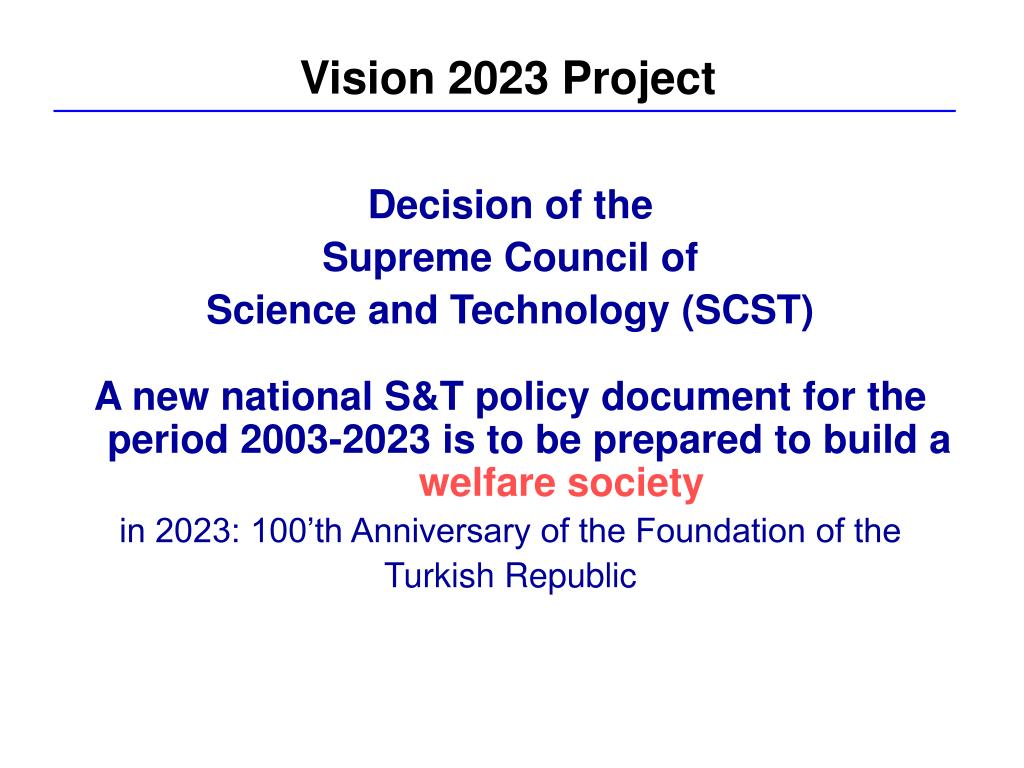 Vision 2023 Project