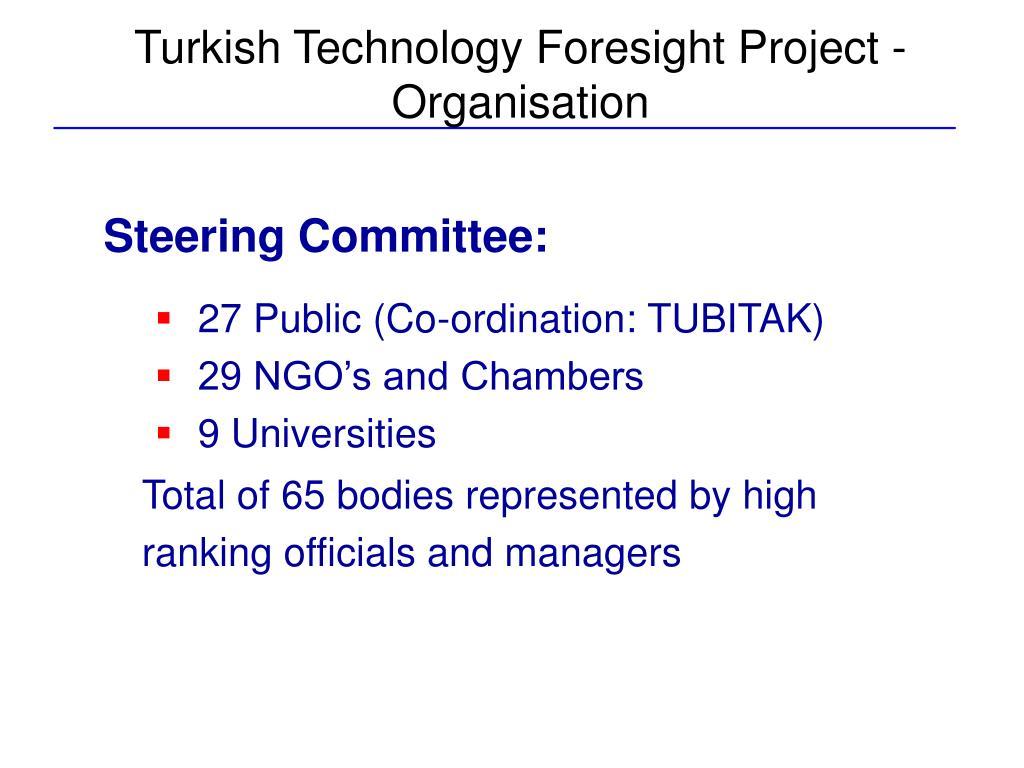Turkish Technology Foresight Project - Organisation