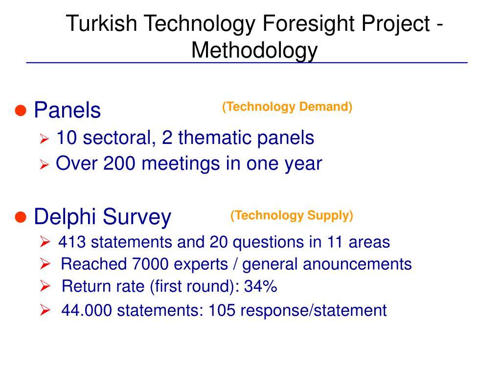 Turkish Technology Foresight Project - Methodology
