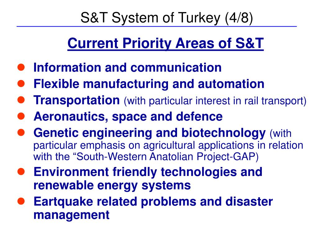 S&T System of Turkey (4/8)