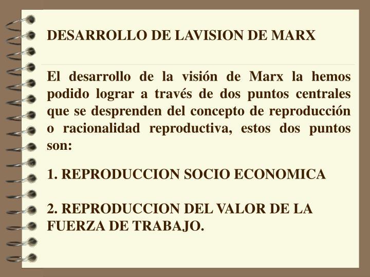 DESARROLLO DE LAVISION DE MARX