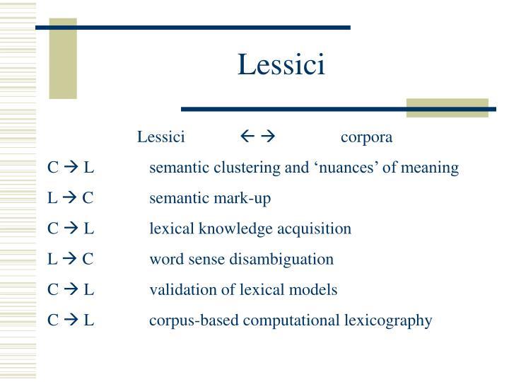 Lessici