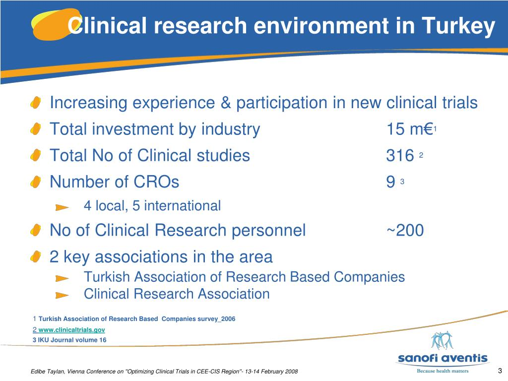 Clinical research environment in Turkey