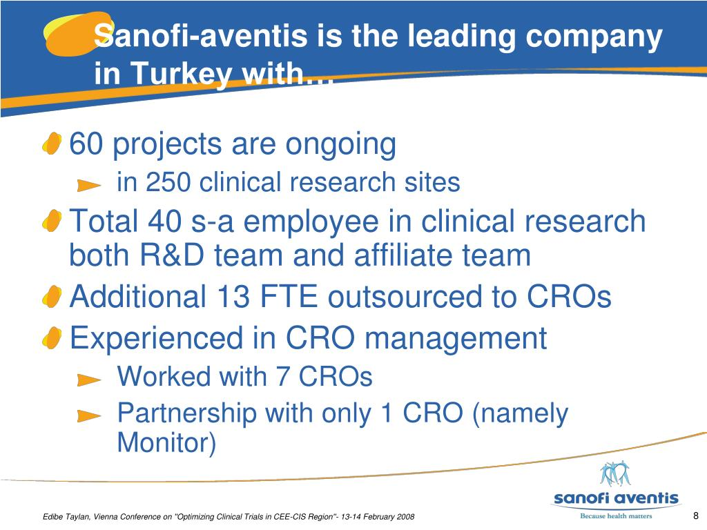 Sanofi-aventis is the leading company in Turkey with…
